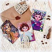 Открытки handmade. Livemaster - original item Cards with angels. Handmade.