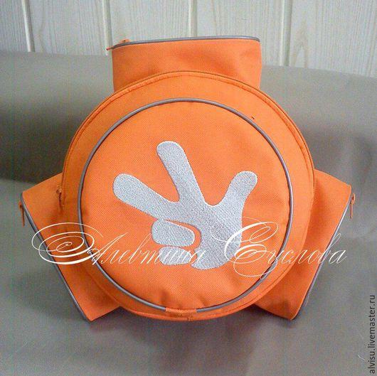 """Детские аксессуары ручной работы. Ярмарка Мастеров - ручная работа. Купить Рюкзак-помогатор """"Фиксики"""" оранжевый. Handmade. Разноцветный, детям"""