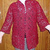 """Одежда ручной работы. Ярмарка Мастеров - ручная работа Кардиган """"Бордо"""". Handmade."""