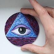 Для дома и интерьера handmade. Livemaster - original item Bright picture on a magnet (handmade). Handmade.