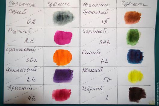 Сухие японские краски для ткани. В баночке 10 гр. Анилиновые красители. Купить краску для шелка в Украине. Купить японские краски для цветоделия в Украине. Ярмарка Мастеров