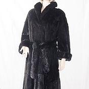 Одежда ручной работы. Ярмарка Мастеров - ручная работа Шуба норка Бриллиант чёрный до 60 размера сканблек легенда черного мех. Handmade.