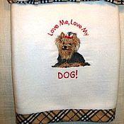 Для домашних животных, ручной работы. Ярмарка Мастеров - ручная работа Пледик и подушка для любимого песика. Handmade.
