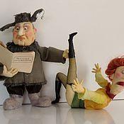 """Куклы и игрушки ручной работы. Ярмарка Мастеров - ручная работа """"Техника приворота""""смешные куклы. Handmade."""