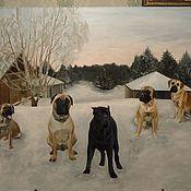 Картины и панно ручной работы. Ярмарка Мастеров - ручная работа Портрет собак. Handmade.