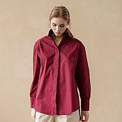 Одежда handmade. Livemaster - original item Shirt made of natural cotton with a loose fit. Handmade.