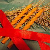 """Фен-шуй и эзотерика ручной работы. Ярмарка Мастеров - ручная работа """"Гармония"""" - травно- восковая свеча с купальскими травами и смолами. Handmade."""