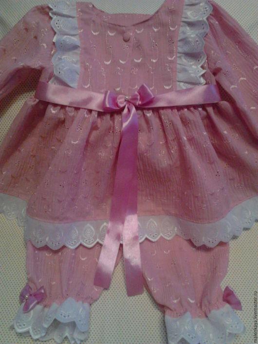 Пижама для маленькой девочки `Принцесса на горошине`. Работа представлена для примера. Хлопок.Шитье. Батистовое шитье. Для маленькой девочки.Авторский дизайн.