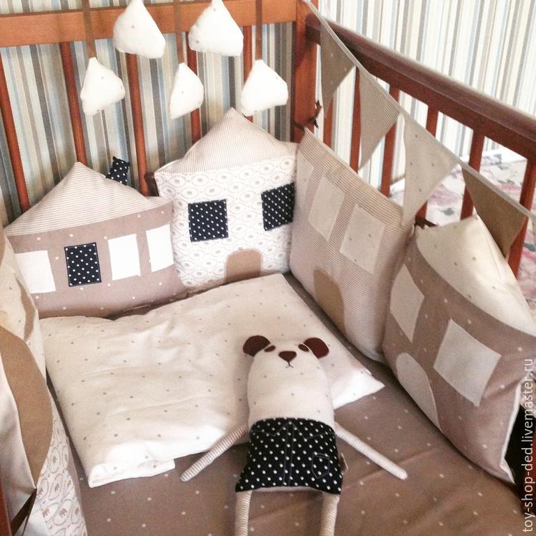 Бортики домики в кроватку своими руками мастер класс