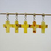 handmade. Livemaster - original item Natural amber crosses R-318. Handmade.