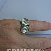 Украшения handmade. Livemaster - original item White owl-ring. Handmade.