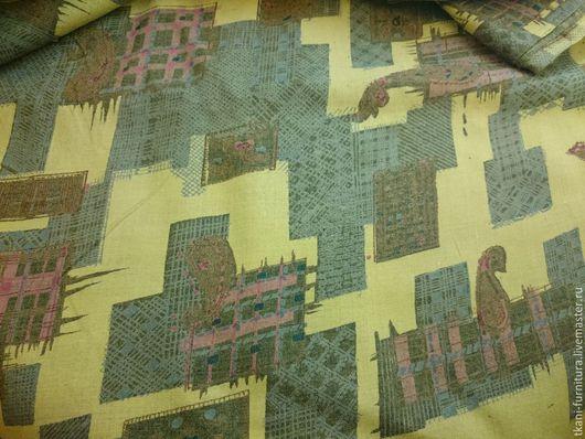 Шитье ручной работы. Ярмарка Мастеров - ручная работа. Купить Ткань сорочечная, п/э.. Handmade. Разноцветный, ткань для шитья, зеленый