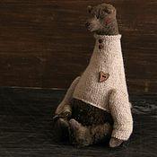 Куклы и игрушки ручной работы. Ярмарка Мастеров - ручная работа Бурый мишка Brownie. Handmade.