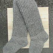 Аксессуары ручной работы. Ярмарка Мастеров - ручная работа Гольфы вязаные Теплая зима. Handmade.