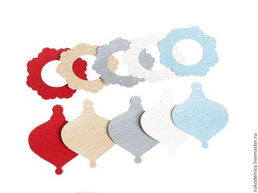 Вырубка для скрапбукинга Новогодняя -игрушки и рамочки.