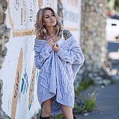 Одежда handmade. Livemaster - original item cardigans: Women`s knitted cardigan oversize in gray. Handmade.