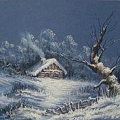 """Картины ручной работы. Ярмарка Мастеров - ручная работа """"Сказочная зима"""" 32х45 графика. Handmade."""