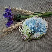 Украшения handmade. Livemaster - original item brooch cornflower.. The cast of the living flower.. Handmade.