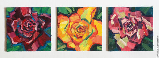 Анна Крюкова (impression-живопись) Роза картина Картина с цветами в подарок Бордовая роза Яркая картина
