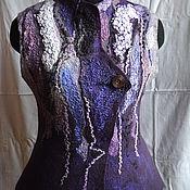 """Одежда ручной работы. Ярмарка Мастеров - ручная работа """"Черничный джем"""" жилет. Handmade."""