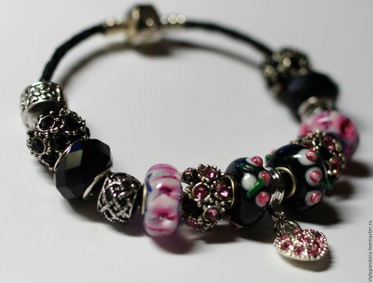`Королева ночи` Модульный браслет Любые шармы с браслета можно приобрести в нашем магазине поштучно и создать свой собственный браслет