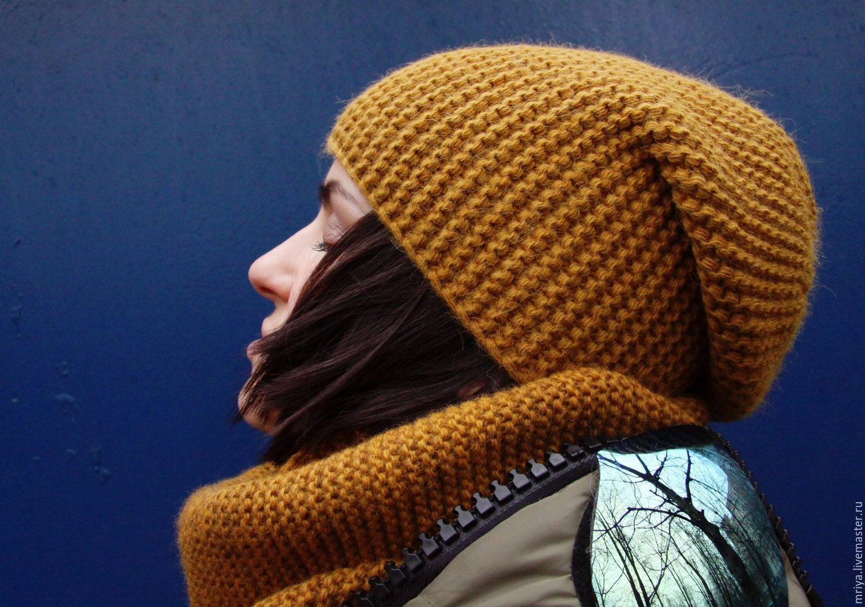 Вязаная шапка своими руками спицами фото
