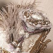 Украшения handmade. Livemaster - original item Brooch pendant Delicate flowers Moonstone pearl beads Shabby boho style. Handmade.
