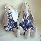 Куклы и игрушки ручной работы. Ярмарка Мастеров - ручная работа Тильда - пара зайчиков. Handmade.