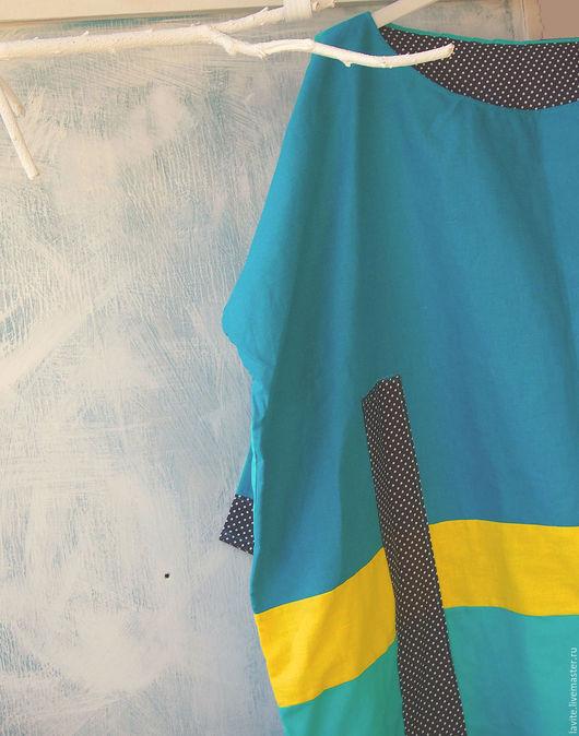 Платья ручной работы. Ярмарка Мастеров - ручная работа. Купить голубой мешок. Handmade. Тёмно-бирюзовый, большое