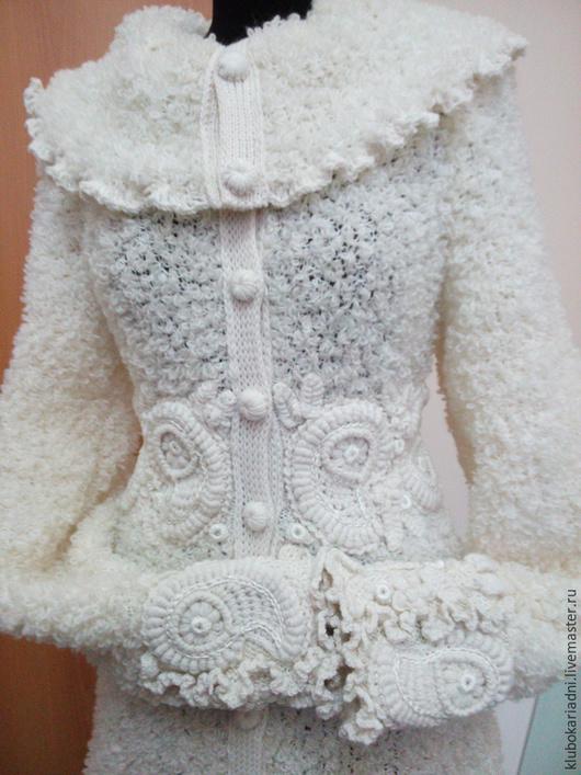 Верхняя одежда ручной работы. Ярмарка Мастеров - ручная работа. Купить СКИДКА 20% пальто СНЕГУРОЧКА. Handmade. Белый