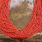 Винтаж handmade. Livemaster - original item Beads CORAL RED coral coral necklace namysto INDIA 1960. Handmade.