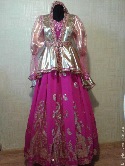 Одежда ручной работы. Ярмарка Мастеров - ручная работа. Купить русский народный костюм. Handmade. Фуксия, парча, фатин мягкий