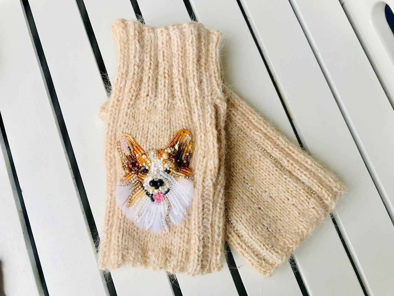 Mini Mittens with Corgi (mittens), Mittens, Moscow,  Фото №1