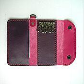 Сумки и аксессуары handmade. Livemaster - original item Leather key holder with card pocket. Handmade.