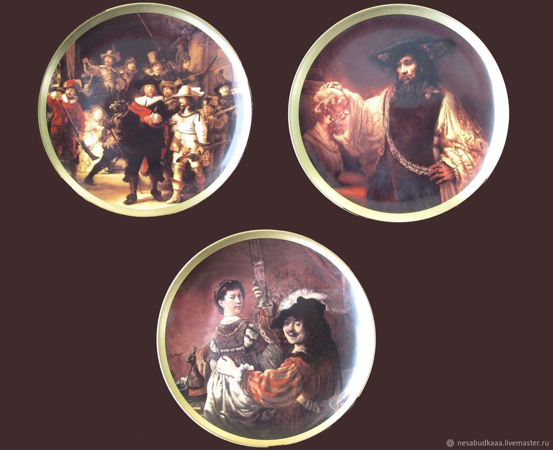 Фарфоровые тарелки Rembrandt Картины Рембрадт Германия, Панно, Франкфурт-на-Майне, Фото №1