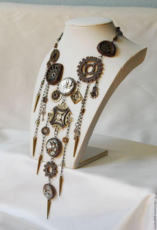 Колье, бусы ручной работы. Ярмарка Мастеров - ручная работа. Купить Старинные часы. Handmade. Комбинированный, японский бисер Миюки