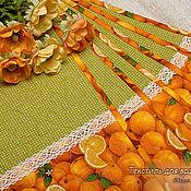 """Для дома и интерьера ручной работы. Ярмарка Мастеров - ручная работа Салфетки для сервировки. """"Апельсиновые"""" Красивый подарок.. Handmade."""