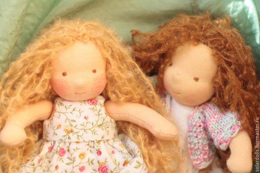 Сашенька16 см.  Лерочка 17 см Вальдорфские куклы.Julia Solarrain (SolarDolls) Ярмарка Мастеров