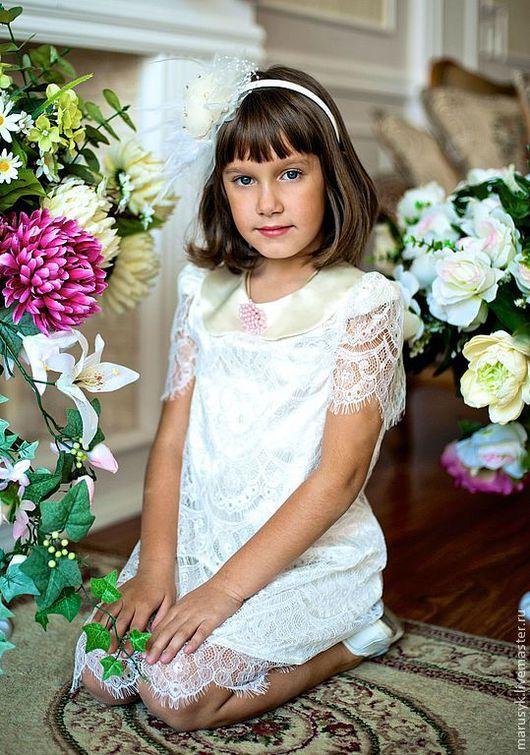 """Одежда для девочек, ручной работы. Ярмарка Мастеров - ручная работа. Купить Платье """"Франсэ"""" white. Handmade. Белый, платье для девочки"""