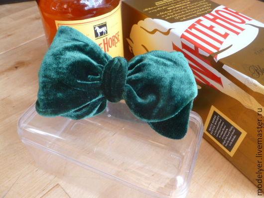 Одежда и аксессуары ручной работы. Ярмарка Мастеров - ручная работа. Купить Бабочка галстук PUBLIC  MAN изумрудный бархат. Handmade.