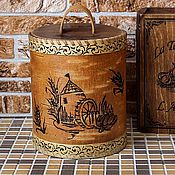Для дома и интерьера handmade. Livemaster - original item Birch bark basket. birch bark