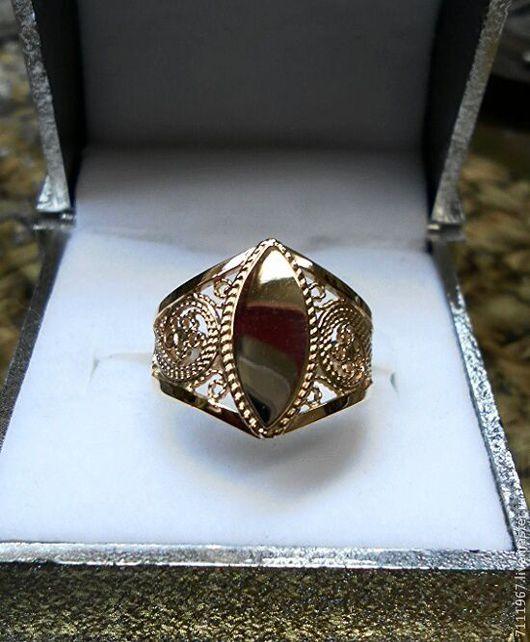 Кольца ручной работы. Ярмарка Мастеров - ручная работа. Купить простое филигранное кольцо-печатка. Handmade. Золотой, филигрань, филигранные