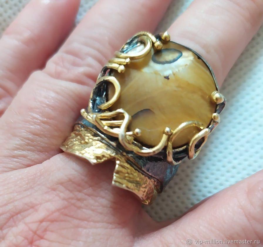 Серебряное кольцо с перламутром, Кольца, Хайфа,  Фото №1