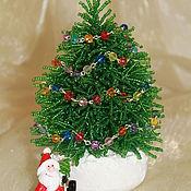 Подарки к праздникам ручной работы. Ярмарка Мастеров - ручная работа Новогодняя елочка из бисера. Handmade.