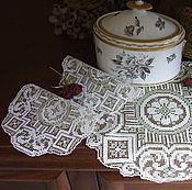"Винтаж handmade. Livemaster - original item Набор винтажных салфеточек ""Серо-белые "". Handmade."