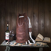 Классическая сумка ручной работы. Ярмарка Мастеров - ручная работа Cумка-рюкзак Гранд-Крю коричневый. Handmade.