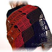 """Аксессуары ручной работы. Ярмарка Мастеров - ручная работа Шерстяной шарф-палантин """"Геометрия тумана"""". Handmade."""