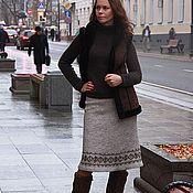 Одежда ручной работы. Ярмарка Мастеров - ручная работа Юбка с вышивкой Репейник. Handmade.