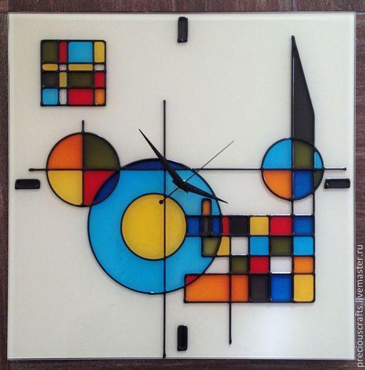 Часы для дома ручной работы. Ярмарка Мастеров - ручная работа. Купить Часы настенные из стекла. Handmade. Часы