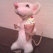 Куклы и игрушки ручной работы. Ярмарка Мастеров - ручная работа валянный мышонок Sweety. Handmade.
